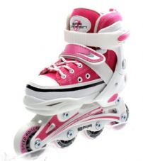 SFR CAMDEN ADJUSTABLE INLINE SKATES - PINK/WHITE
